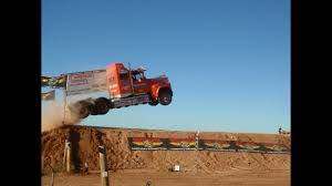 Semi Jump World Record Truck Jump - YouTube