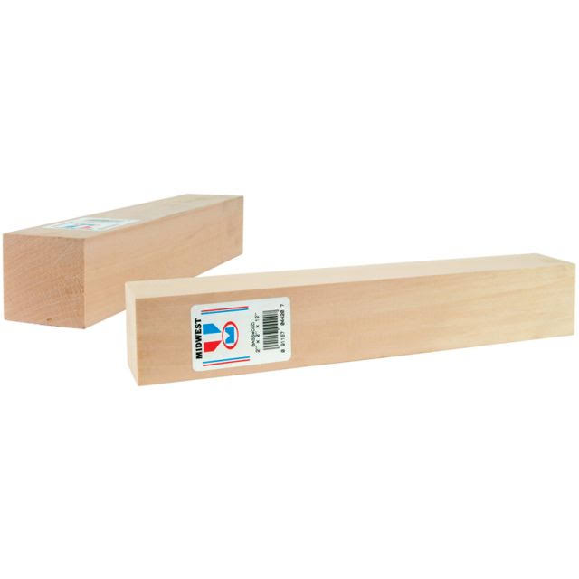 "Midwest Products 4430 Micro-Cut Quality Basswood Block Bundle - 2""x6""x12"""