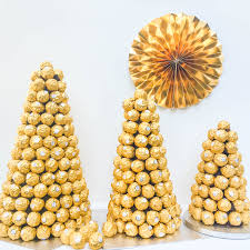 Rice Krispie Christmas Trees Uk by Ferrero Rocher Wedding Tower Chocolate Centre Piece Sweet Tree