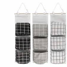 3 stück hängende tasche tür wand organizer hängetasche mit 3 taschen wand aufbewahrungstasche für kinderzimmer badezimmer schlafzimmer 3 farben weiß
