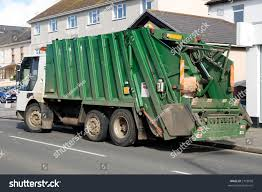 Green Rubbish Truck Boxes Back Stock Photo (Royalty Free) 2793058 ...