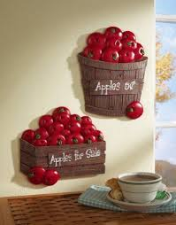 Set Of 2 Bushel Apples Kitchen Wall Decor By Collections Etc