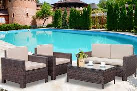 Patio Sofa Set 4pcs Outdoor Furniture Set PE Rattan Wicker Cushion Outdoor  Garden Sofa Furniture With Coffee Table Bistro Sets For Yard Best Balcony Fniture Ideas For Small Spaces Garden Tasures Greenway 5piece Steel Frame Patio 21 Beach Chairs 2019 The Strategist New York Magazine Tables At Lowescom Sportsman Folding Camping With Side Table Set Of 2 Garden Fniture Ldon Evening Standard Diy Modern Outdoor Inspired Workshop Easy Kids And Chair Set Free Plans Anikas Kitchen Ding For Glesina Fast Table Chair Inglesina Usa Buy Price Online Lazadacomph