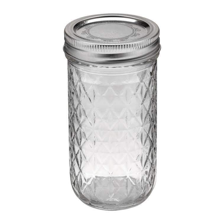 Ball Regular Mouth Quilted Crystal Jelly Jars - 12pk, 12oz