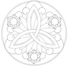 Easy Mandala Coloring Pages More Line Of Symmetry Radial Free Printable