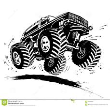 100 Monster Trucks In Mud Videos Cartoon Truck Stock Vector Illustration Of Offroad 29933560