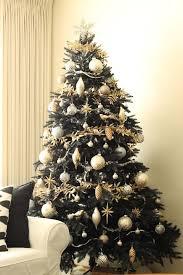 Black Christmas Tree Gold Ornaments