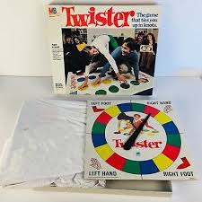 Vintage 1966 1974 Complete Twister Board Game Milton Bradley W Box Mat Spinner