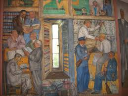 Coit Tower Murals Images by Coit Tower Wpa Murals San Francisco Ca Image