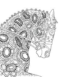 Coloring Pages Horses Jumping The Amazing World Adult Book Sheets