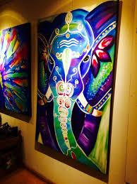 Bohemian Elephant Art Painting
