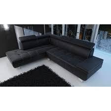 canape d angle simili meublesline canapé d angle moderne daylon en simili cuir noir