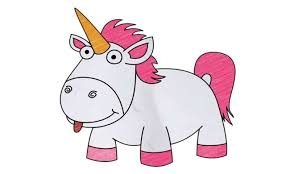 How To Draw Fluffy The Unicorn Despicable Me