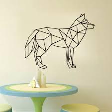 geometrische wolf schlafzimmer vinyl wand aufkleber wasserdicht hause wand schablone für kinderzimmer spezielle removable syy82