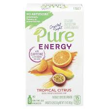 Christmas Tree Preservative Aspirin by Crystal Light Pure Energy Tropical Citrus Drink Mix 1 74 Oz 6 Ct