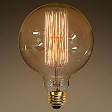 40 watt g40 vintage antique light bulb globe style