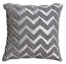 nicole miller chevron beaded decorative toss pillow cover bugle