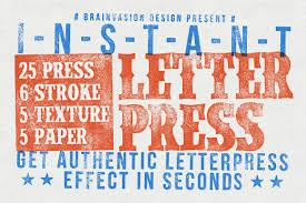 Vintage Letterpress Illustrator Kit Layer Styles Creative Market
