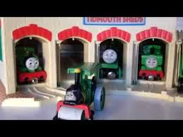 Thomas Tidmouth Sheds Deluxe Set by Thomas And Friends Trains Percy Henry Oliver Duck Alfie In