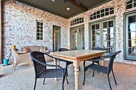 Patio Recessed Lighting Brick Ideas Traditional With Green Doors Contemporary Dining Room Tables Outside Fixtures