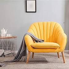 lzzl moderner wildleder sessel mit holzbeinen für wohnzimmer