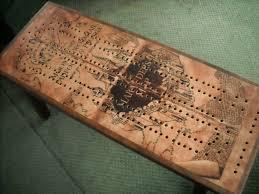 Custom Cribbage Board Coffee Table