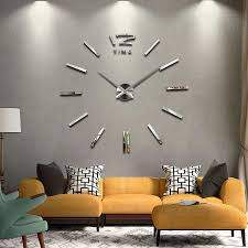 New Home Decor Wall Clock European Oversized Living Room Modern