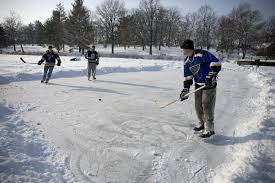 Springfield Park Ponds Open For Ice Skating, Hockey - News - The ... Backyard Hockey Rink Invite The Pens Celebrity Games Claypool Ice Rink Choosing Your Liner Outdoor Builder How To Build A Backyard Bench For 20 Or Less Hockey Boards Board Packages Walls Diy Dad Keith Travers Calculators Product Review Yard Machines Snow Thrower Bayardhockeycom Sloped 22 Best Synthetic Images On Pinterest Skating To Create A Ice Rinks Customers