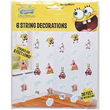 spongebob squarepants hanging party decorations party supplies