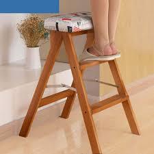 TLTLTD Step Stool, Solid Solid Solid Wood Folding Step Stool ...