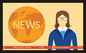 The News On Screen TV Vector Art Illustration