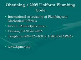 2009 Uniform Plumbing Code Presentation ppt video online