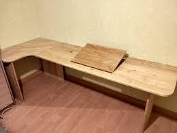 plateau de bureau d angle bureau d angle en frêne par jelurem sur l air du bois
