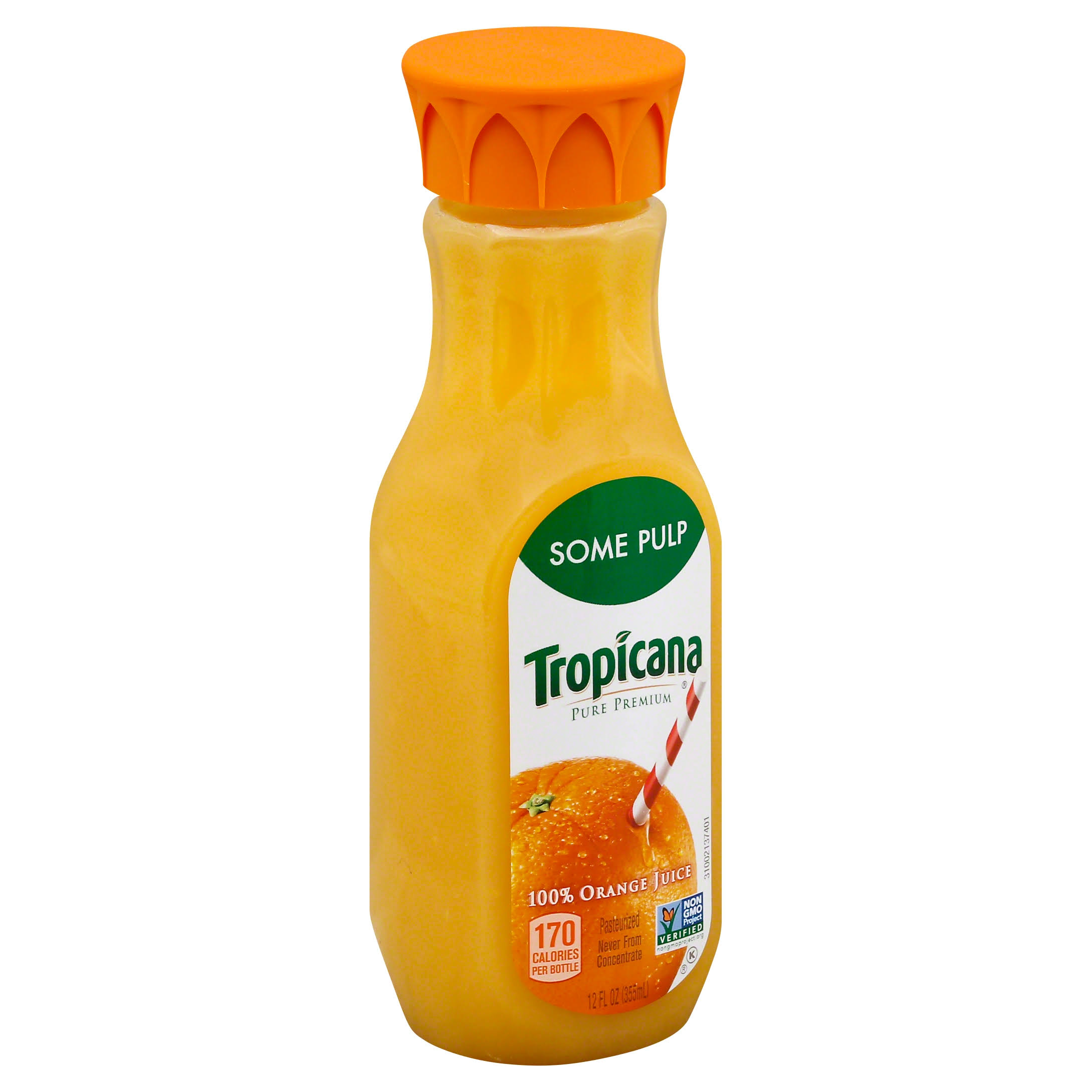 Some Pulp Tropicana Pure Premium Orange Juice - 12oz