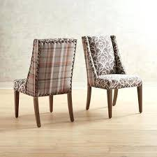 Plaid Dining Chairs Attractive Extra Points Antler Amp Chair With Java Wood
