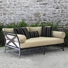 Daybed Patio Furniture X Back Modern Outdoor Terra 15