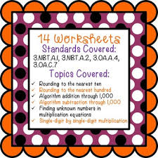 Halloween Math Multiplication Worksheets by Halloween Math Worksheets 3rd Grade Common Core By Teaching Buddy