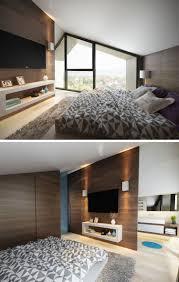 schlafzimmer mit dachschräge grau weiß und akzente in