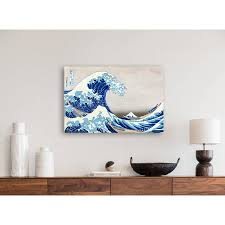 leinwand japanische kunst the great wave 45x30 cm
