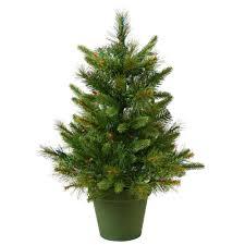 Vickerman 2Ft Green 76 Tips Christmas Tree 50 Warm White Italian LED Lights