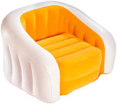 Intex Inflatable Sofa With Footrest by Intex Café Club Assortment Chair Multicoloured Amazon Co Uk