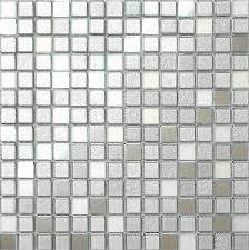30cm x 30cm silver mirror frosted glitter mix glass mosaic tiles