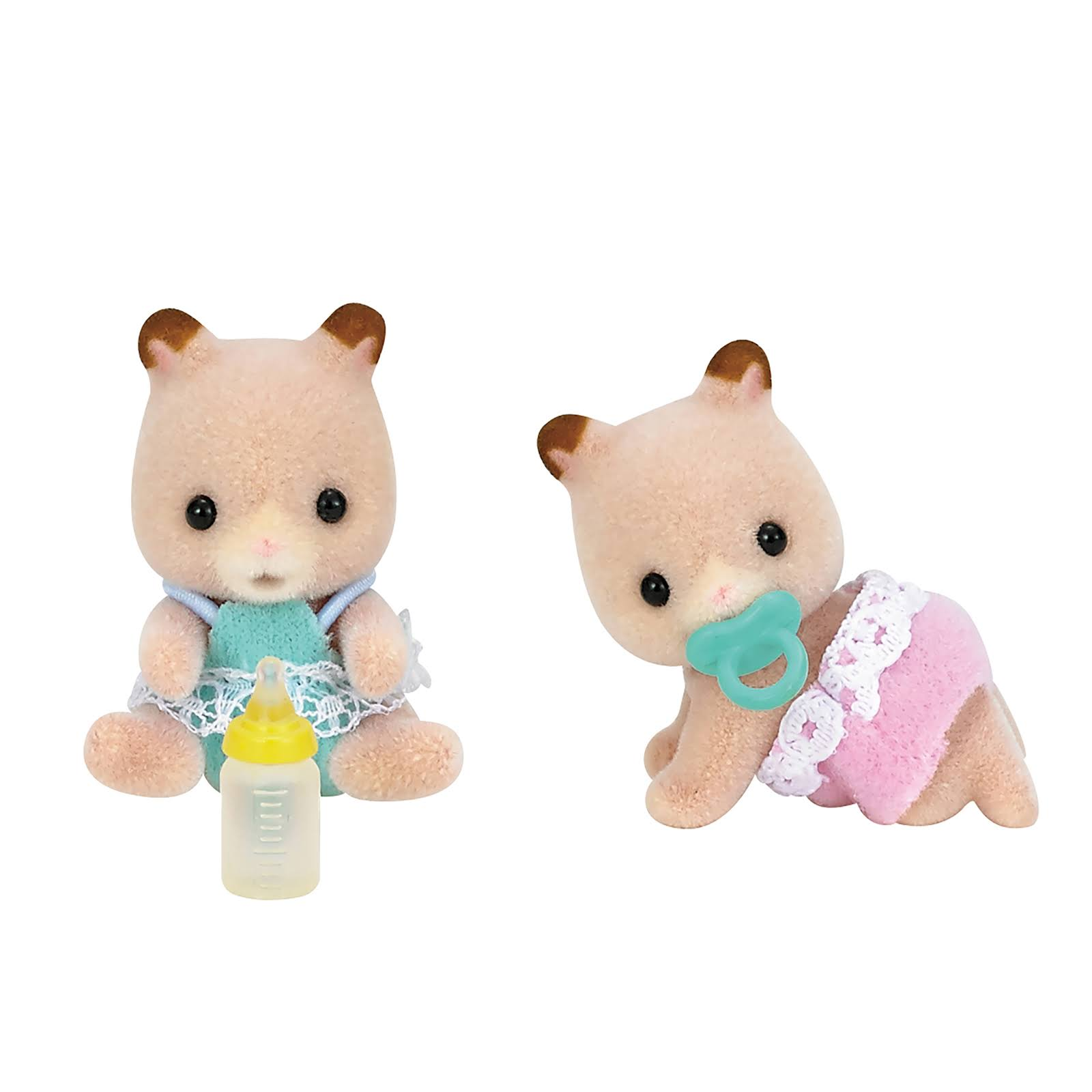 Calico Critters Fluffy Hamster Twins Play Set