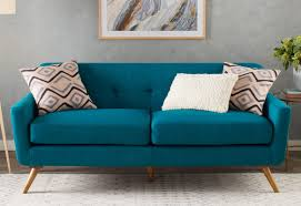 Armen Living Barrister Sofa Green Velvet by Blue Tufted Sofa Premier Comfort Heating