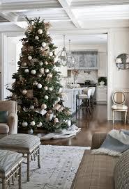 Living Room Apartment Christmas Decorating Ideas Circular White Lace Rug Pure Long Sofa Rustic Sky
