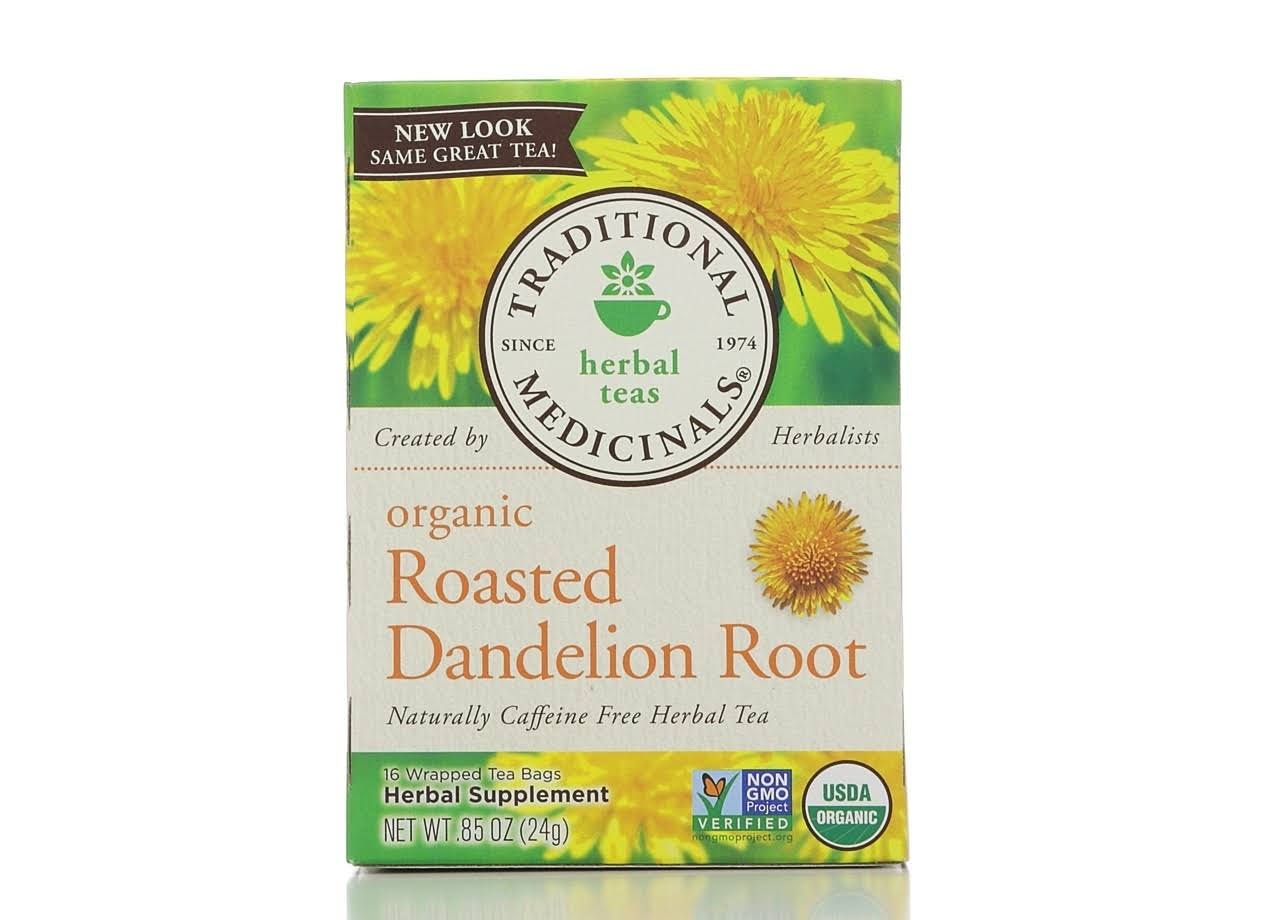 Traditional Medicinals Herbal Teas Organic Roasted Dandelion Root Tea Bags