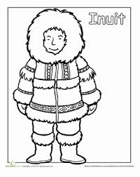 First Grade Coloring Worksheets Multicultural Inuit