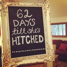 Rustic Shower Count Down Sign
