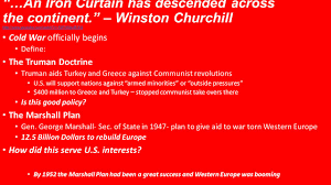 Iron Curtain Speech 1946 Definition by 26 1 Origins Of The Cold War Ppt Video Online Download