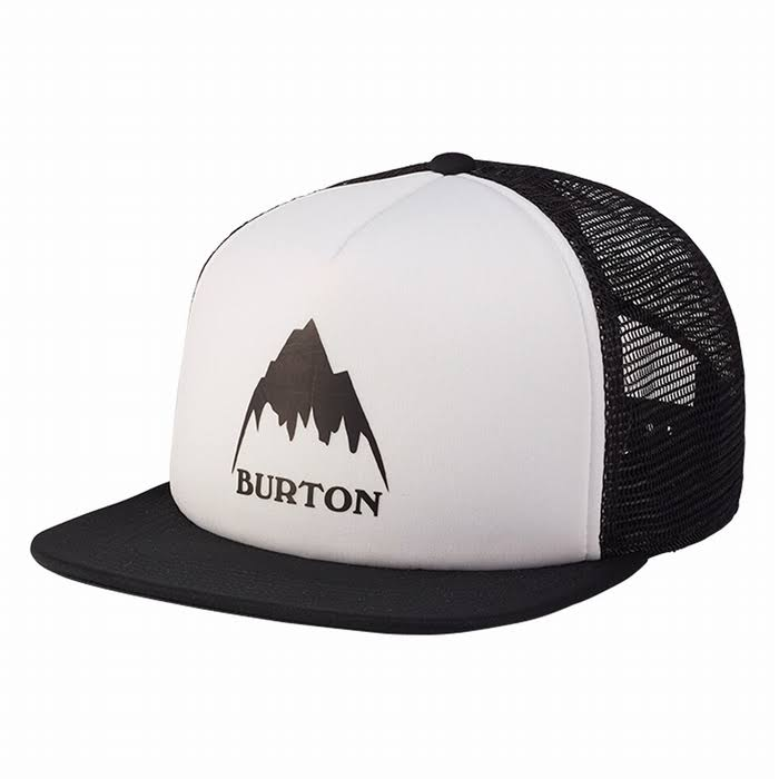 Burton I-80 Snapback Trucker Hat Cap (One Size, grey/black)